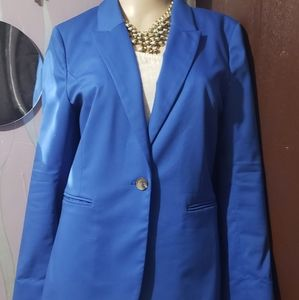 Ladies work attire blue blazer